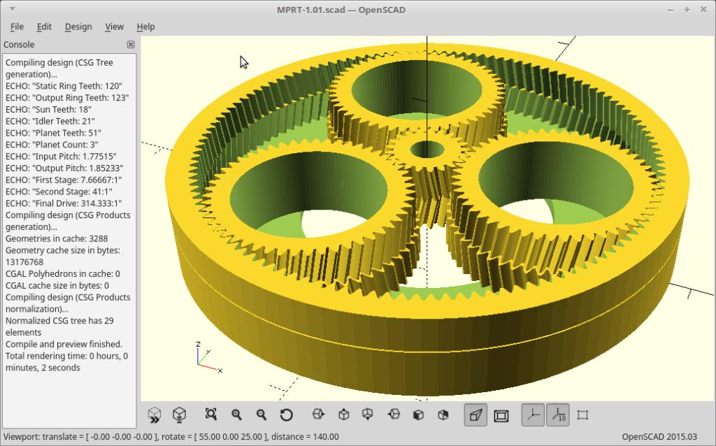 Программа OpenSCAD для 3д моделирования